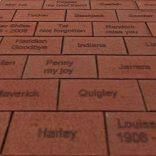 engraved bricks