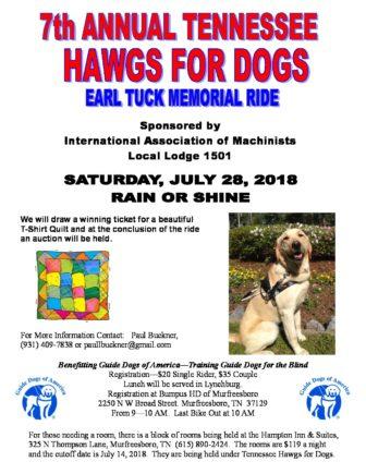 TN Hawgs for Dogs Earl Tuck Flyer - Guide Dogs of America