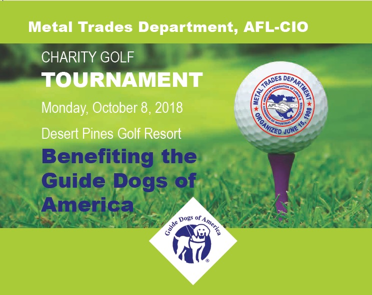 metal trades department charity golf tournament guide dogs of america