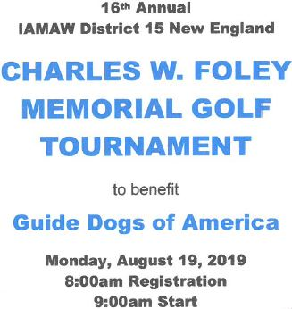 16th Annual District 15 Charles W  Foley Memorial Golf